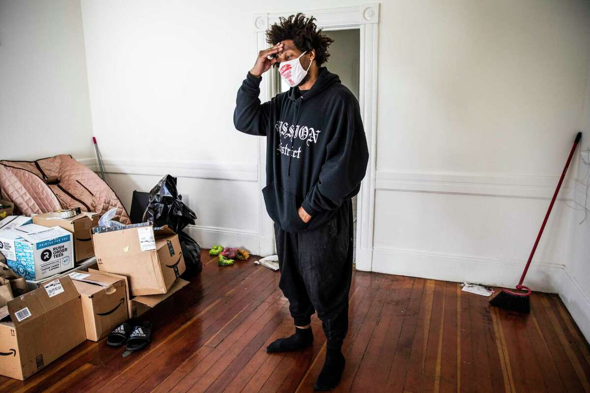 Vandor Hill, 39, a San Francisco native and renter in the Mission District, fears he will be evicted as California's eviction moratorium is set to expire on Sept. 30.