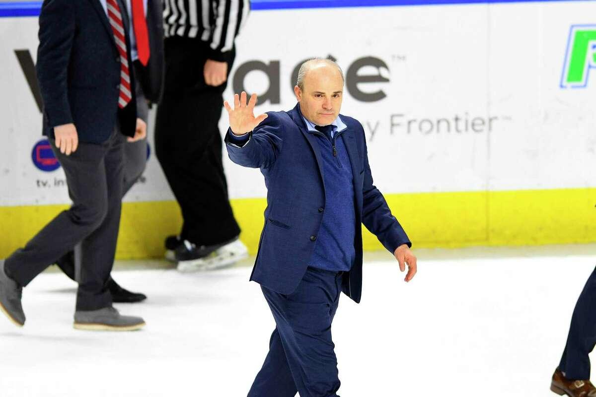 Sacred Heart men's hockey coachC.J. Marottolo