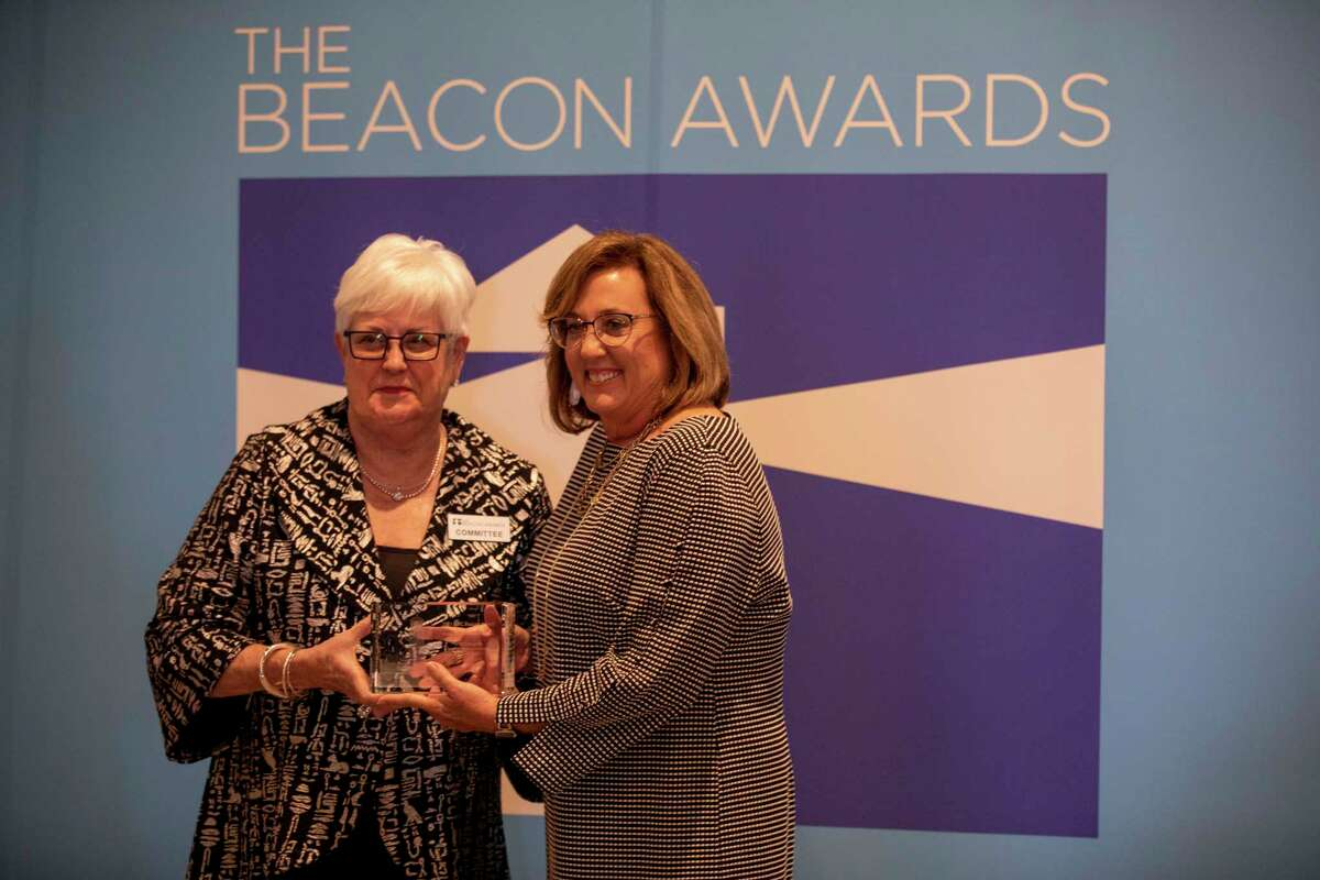 Centers for Children and Families clinical director Kristi Edwards received the award for Excellence in Organizational Leadership during the Beacon Awards on Thursday, Sept. 30, 2021 at the Odessa Marriott Hotel and Conference Center. Jacy Lewis/Reporter-Telegram