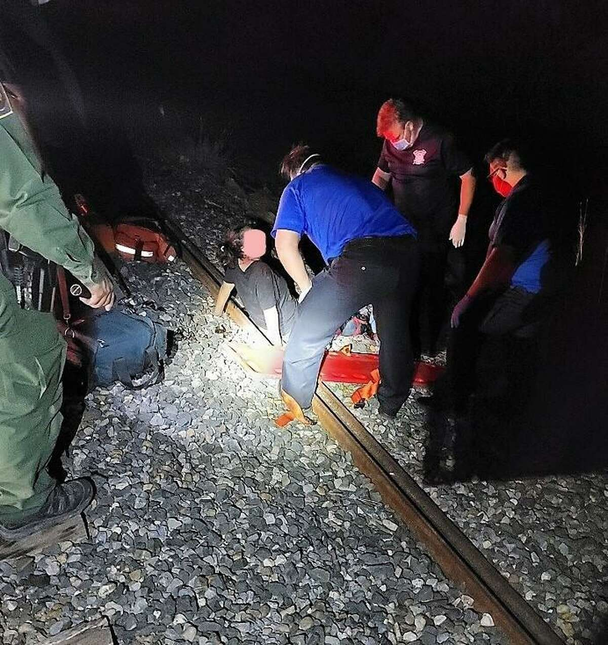 A woman was injured when she tried to get on board a moving train. U.S. Border Patrol said she was determined to be a migrant from Guatemala.