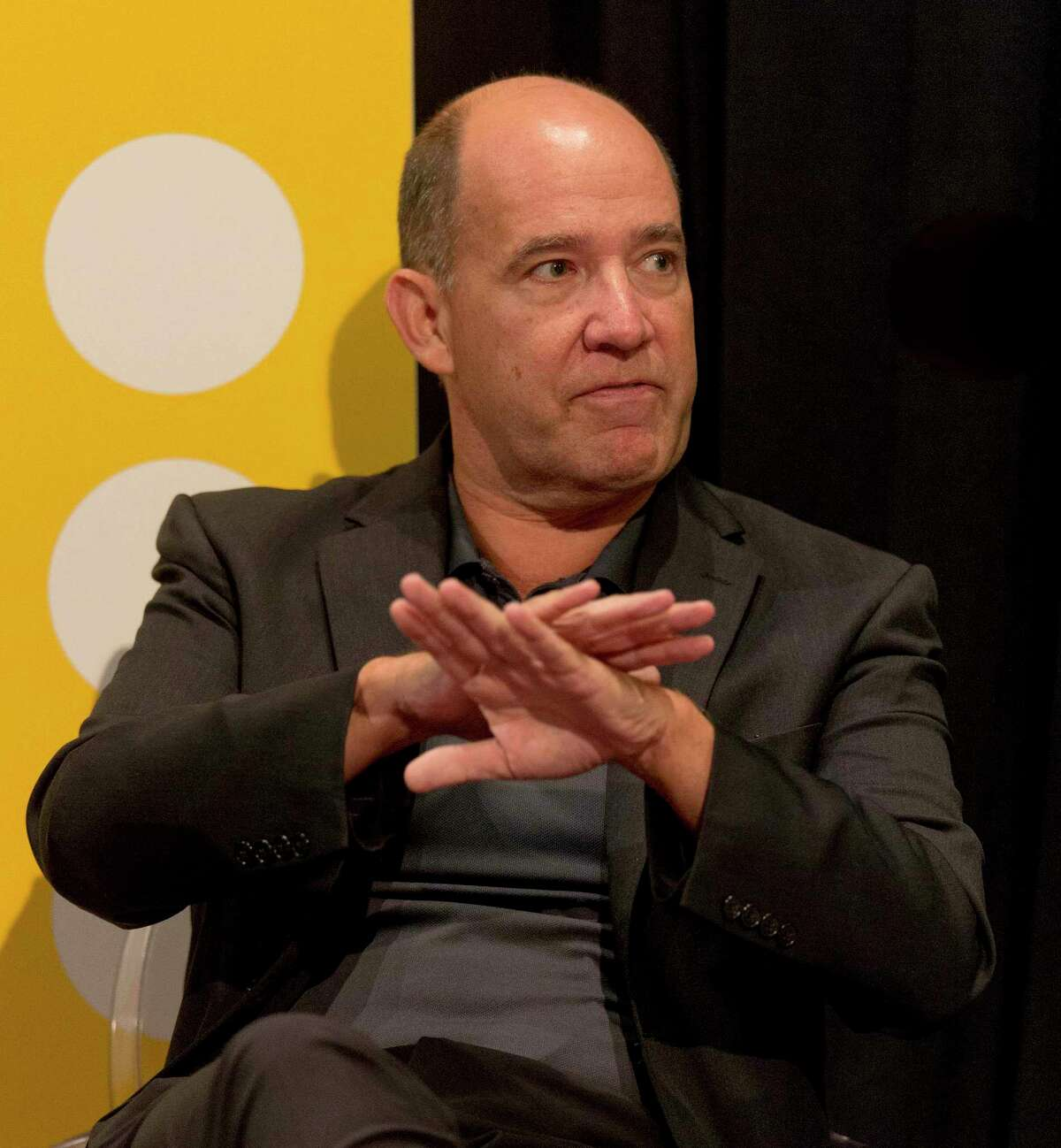 Matthew Dowd participates in a discussion on Day 2 of the three-day Texas Tribune Festival, an annual politics and policy colloquy, on Sept.27, 2019, in Austin, Texas.