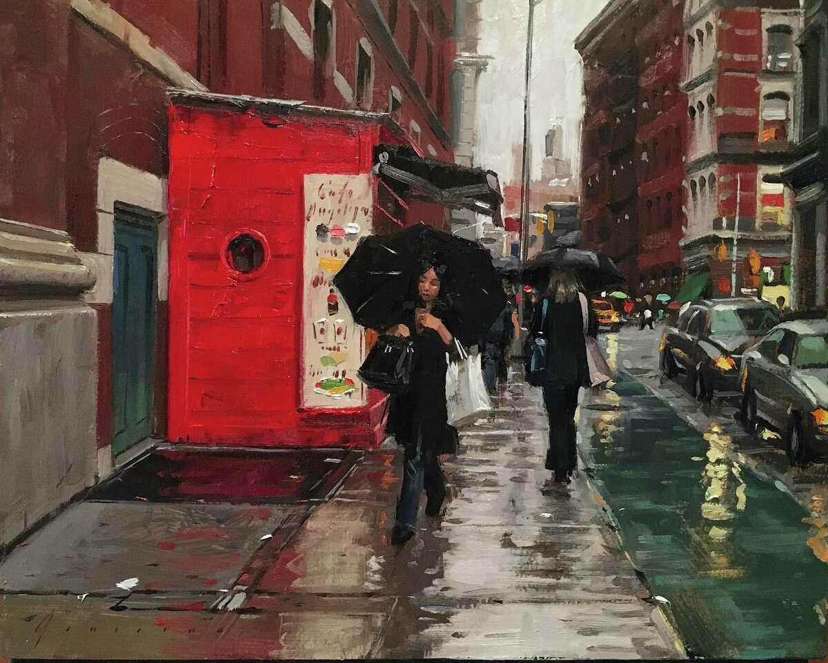 Paintings by Vincent Giarrano, pictured, and Matt Wood are featured at Studio Hill Gallery in a new show, continuing to Nov. 7, with an opening reception Oct. 3, 3-6 p.m.