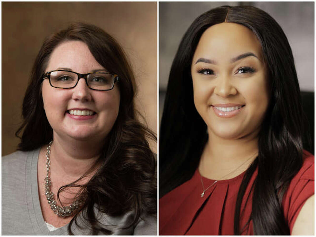 Chelsea Howland, left, and Ashley Whitlatch have been named among the Illinois Nurses Foundation's 40 Under 40 Emerging Nurse Leaders.