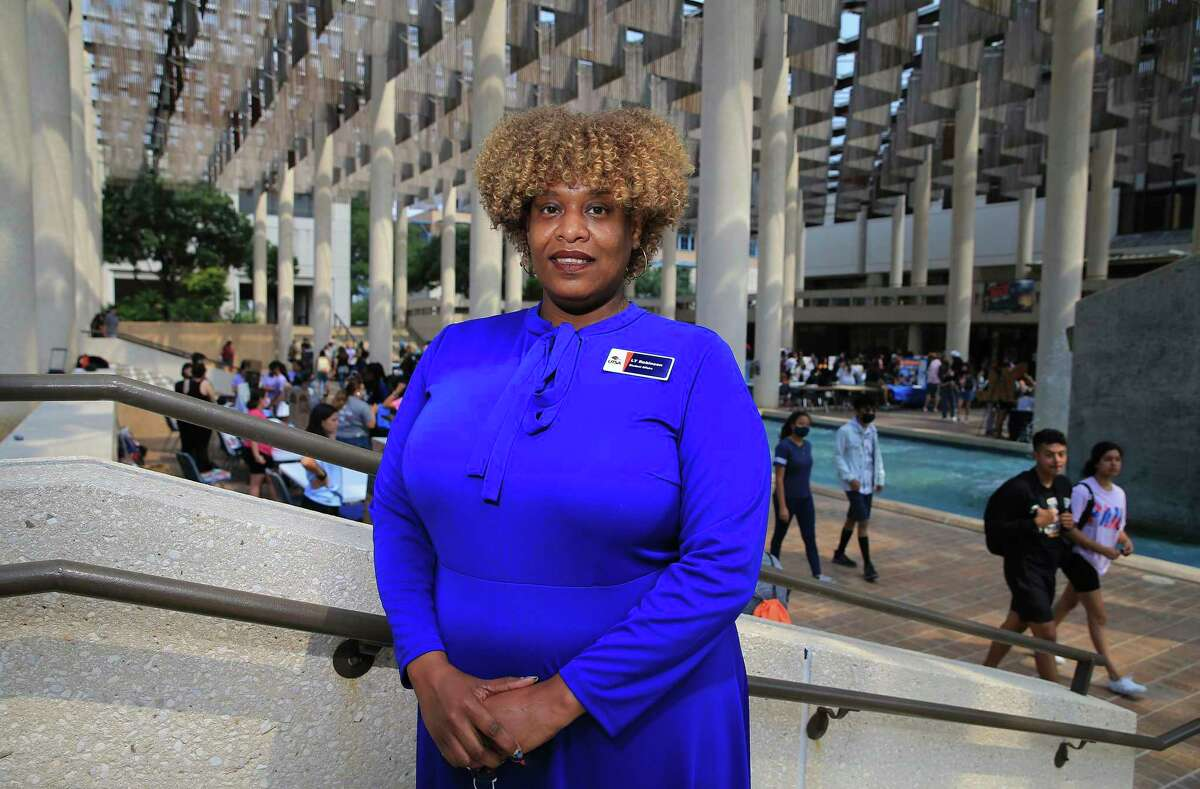 """LaTonya Robinson was a first-generation student. Nowadays, she's the senior vice provost for student affairs and dean of students at the University of Texas at San Antonio. """"In the senior vice provost role, I work with other campus leaders to identify the barriers that students might have to success, and I help work with them to reduce them as much as possible,"""" Robinson says. As dean of students, she works with ten other departments to help support student well-being, advocacy and engagement needs."""