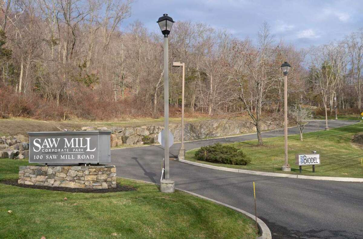 100 Saw Mill Road, in Danbury, the site of an approved office park and power plant.