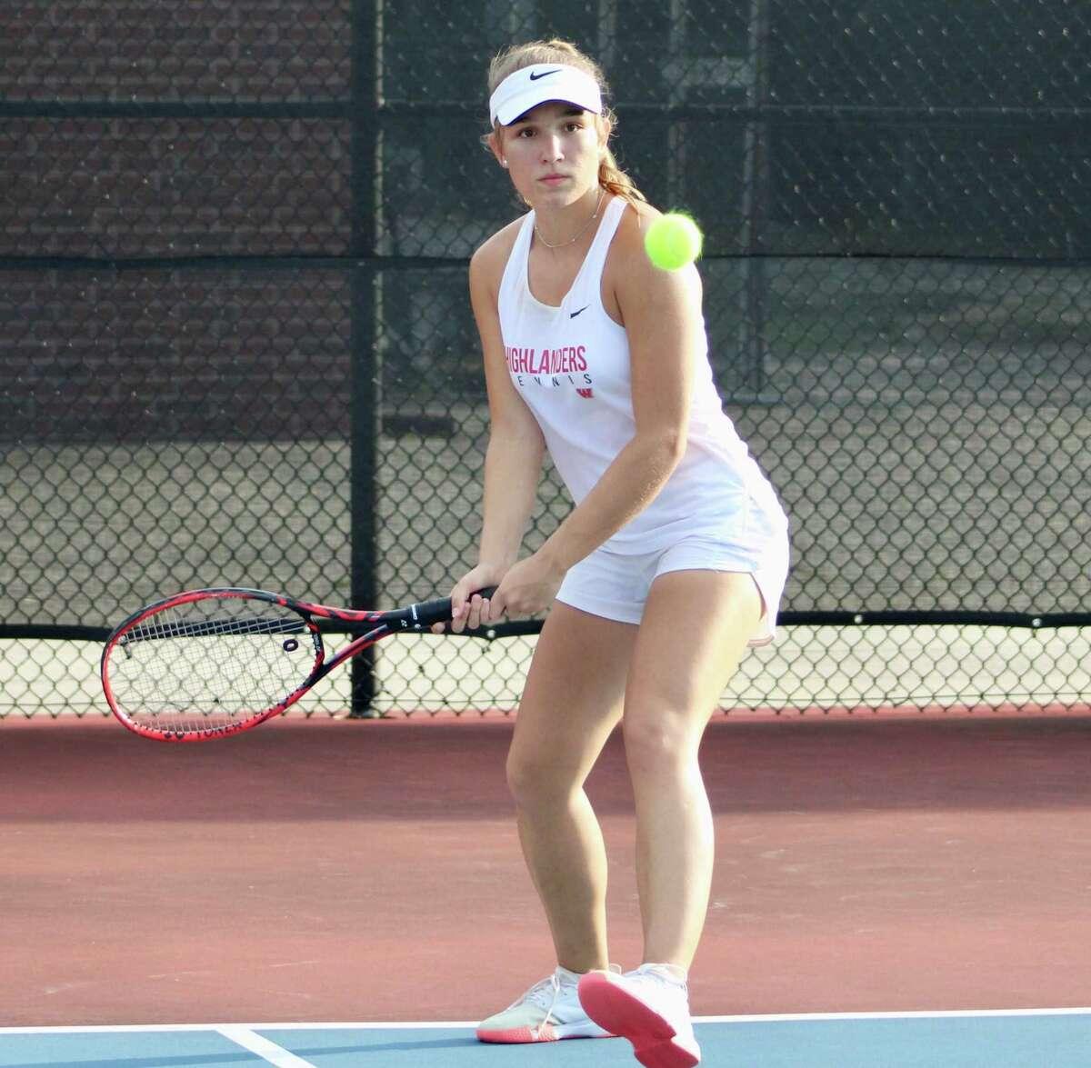 The Woodlands tennis player Emma Samuelsson.