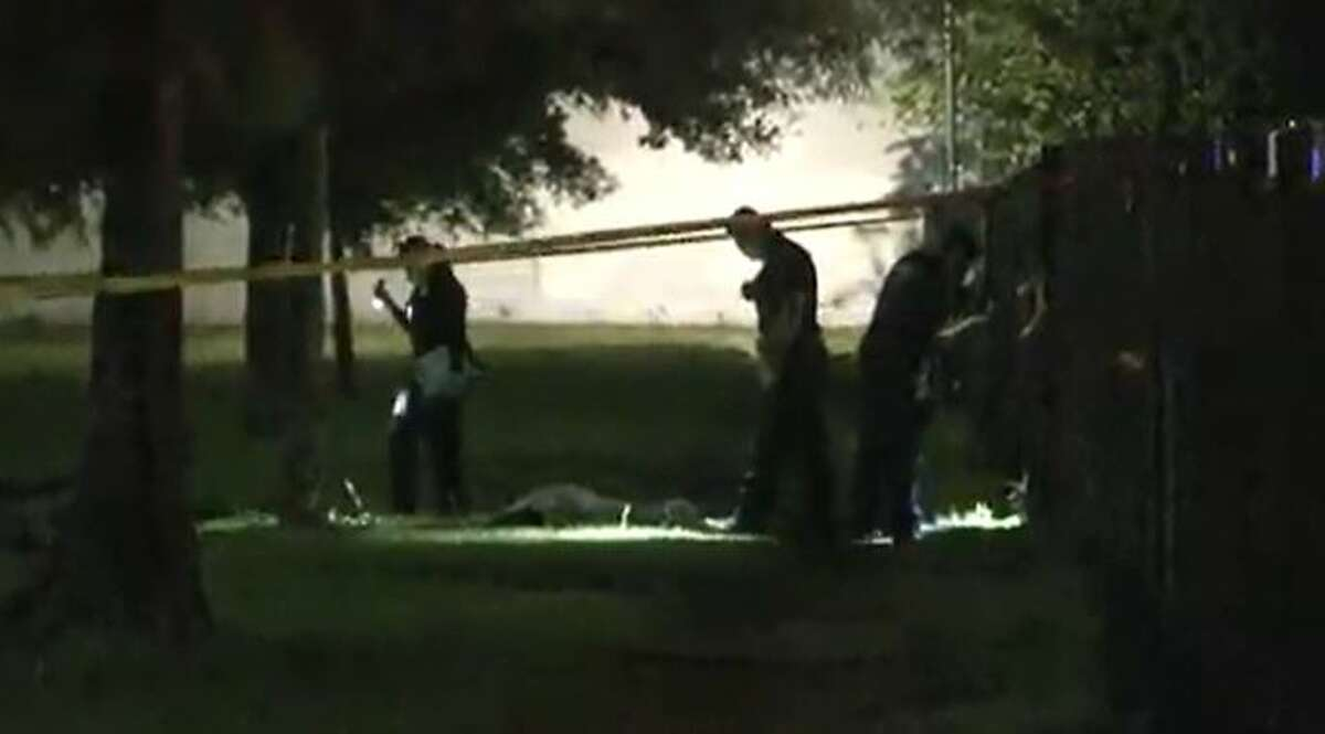 Houston Police investigate a fatal shooting at a Spring Branch area park on Friday, Oct. 1, 2021.
