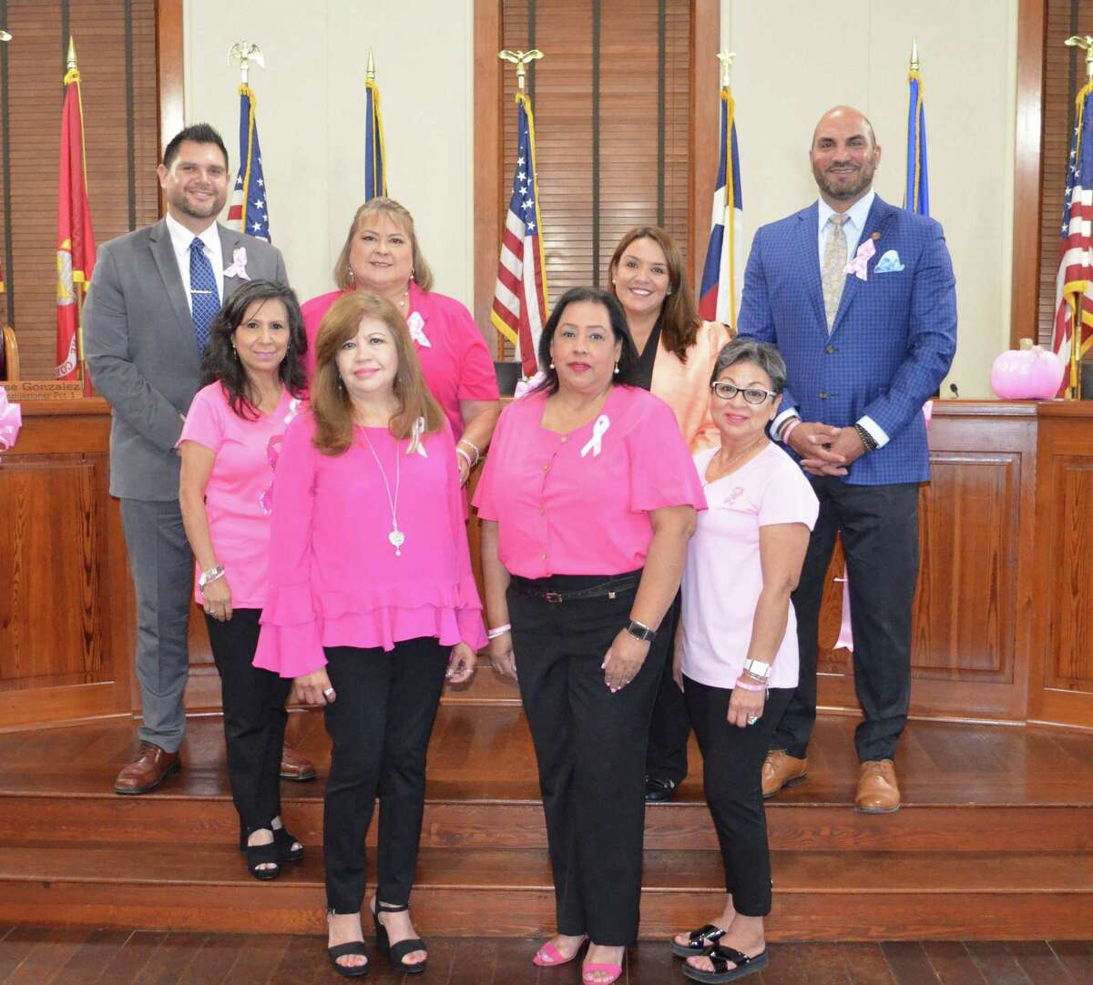 The Webb County Commissioners Court declared Oct. 15 at National Mammography Day at Wednesday's meeting and also declared October as Breast Cancer Awareness Month.
