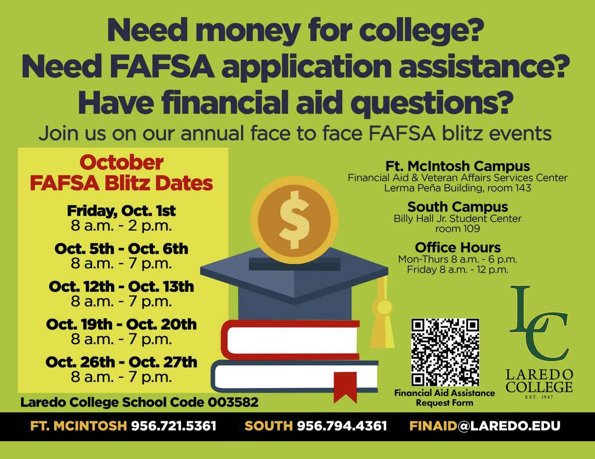 LC's Financial Aid & Veteran's Department will host the annual FAFSA Blitz on Oct. 1 from 8 a.m. to 2 p.m. at both campuses.