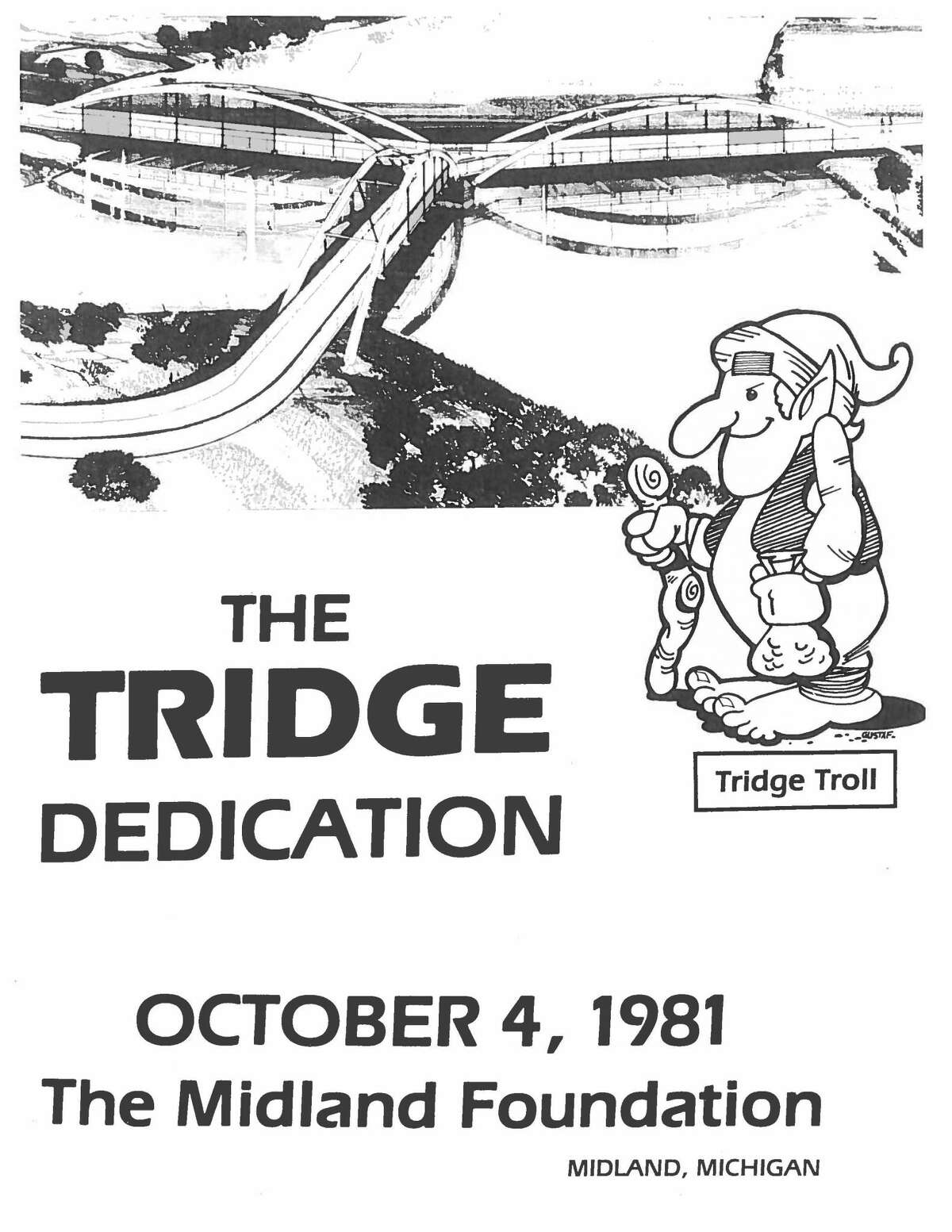 Pictured is a brochure for the Midland Tridge's dedication ceremony on Oct. 4, 1981.