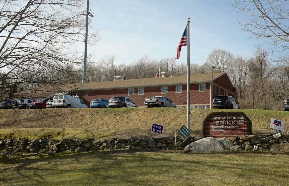 New Milford Police Department, Poplar St, in New Milford. Monday, January 25, 2021.