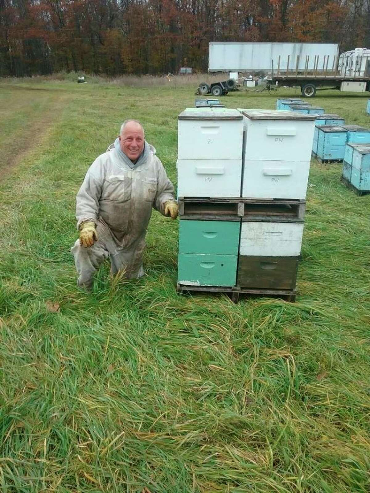 Will Sears, owner of the Midland Bee Company, sells out of his house, at the Midland Area Farmers Market, and through several different stores. (Photo provided)