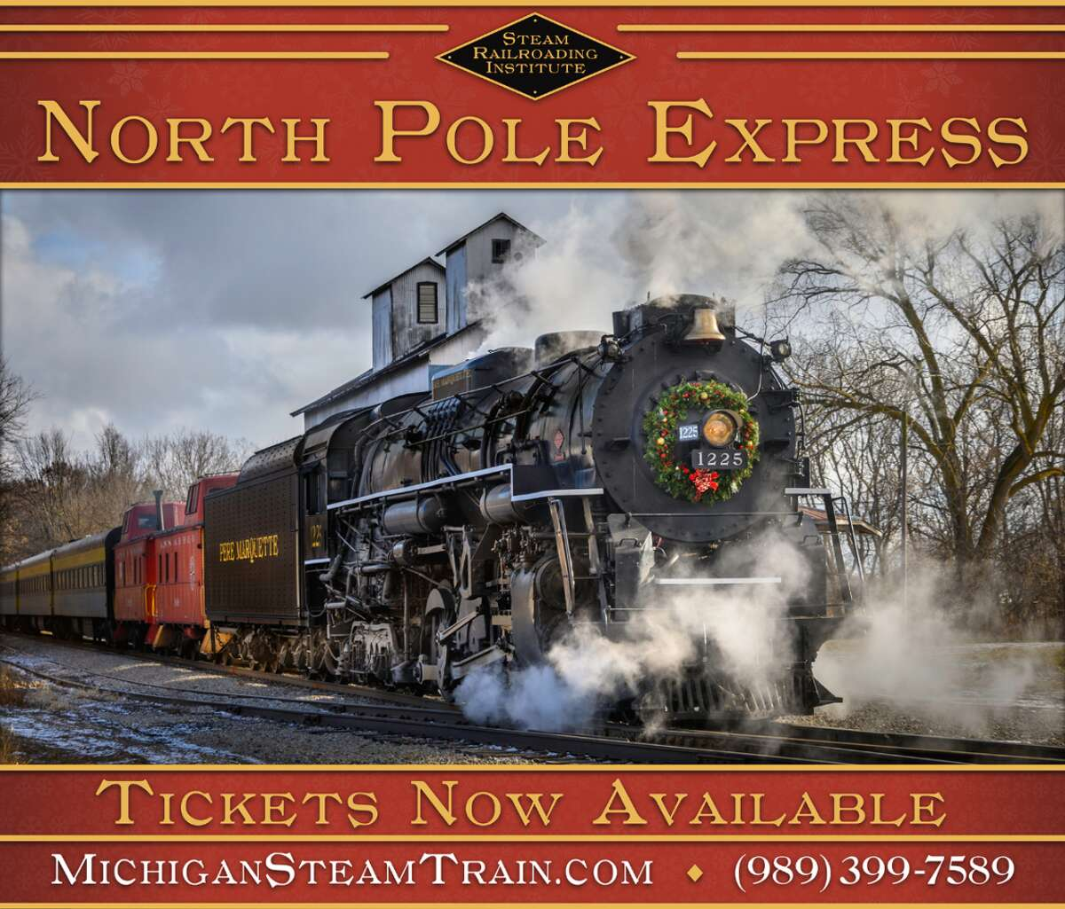 Pictured is the flyer for the North Pole Express.