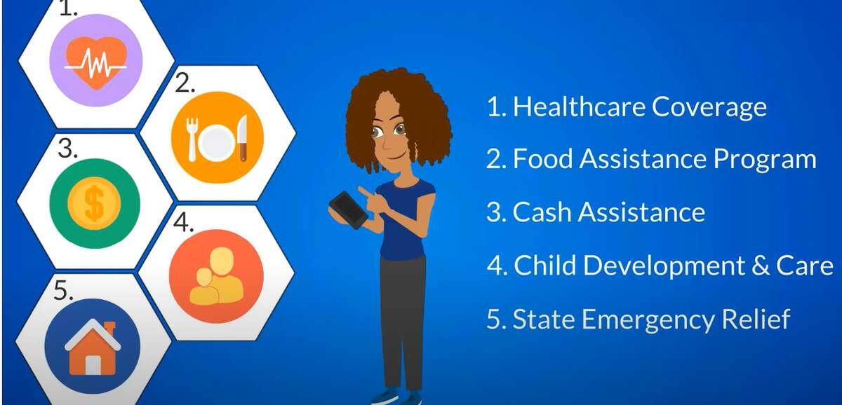 Pictured is a screenshot from a video produced by MDHHS on their MI Bridges program which helps people manage their food assistance benefits.