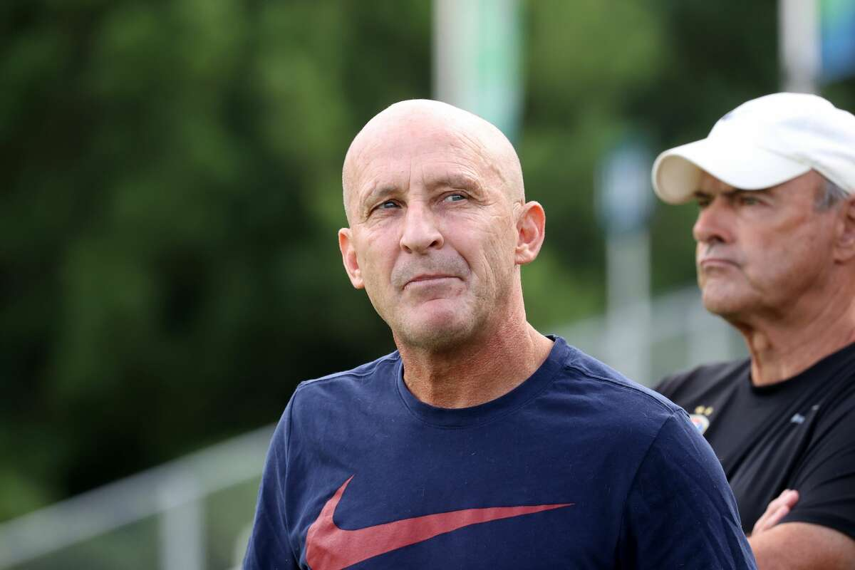 Head coach Paul Riley of the North Carolina Courage before a game between Chicago Red Stars on August 15, 2021 in Cary, North Carolina.The Courage have fired Riley effective immediately after allegations of sexual harassment and misconduct. The allegations were first reported by The Athletic in a story Thursday, Sept. 30, 2021, that detailed misconduct stretching back more than a decade.