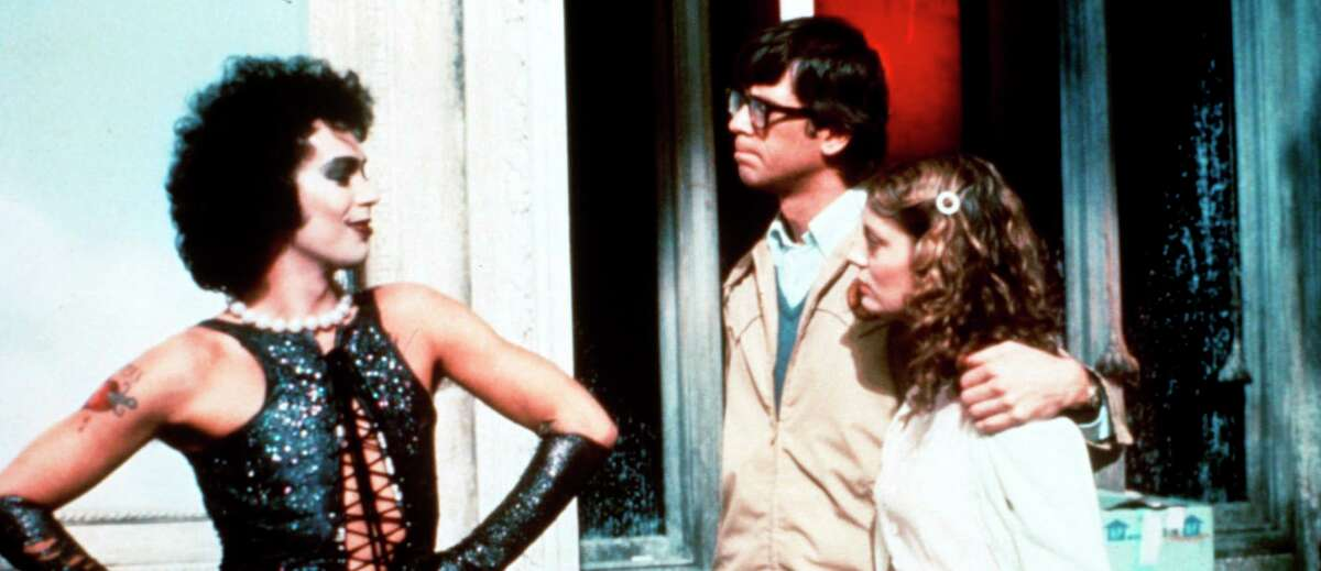 """""""The Rocky Horror Picture Show"""" - starring Tim Curry (from left), Barry Bostwick and Susan Sarandon - will be screened Oct. 8 at the Brauntex Performing Arts Theatre in New Braunfels."""