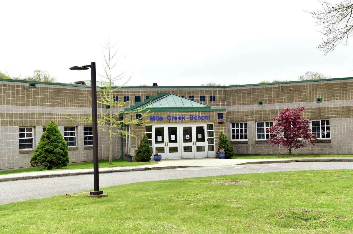 Mile Creek School is located at 205 Mile Creek Road in Old Lyme.