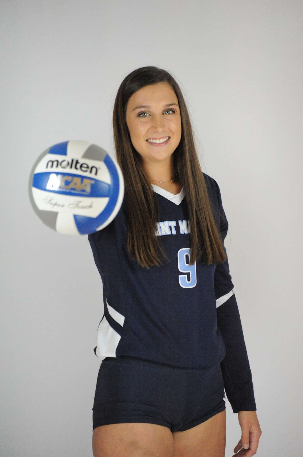 Former Onekama volleyball player Colleen McCarthy is thriving at Saint Mary's College.