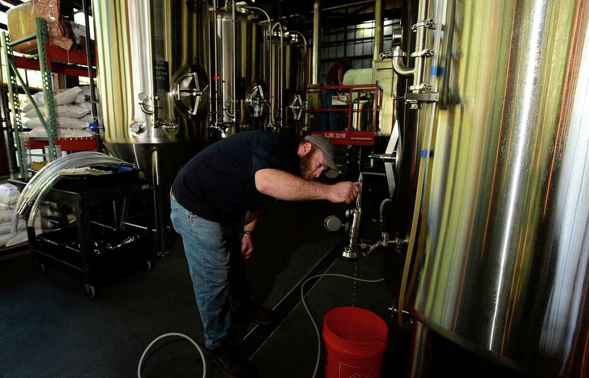 Spacecat Brewing Head Brewer Roger Krackow at the new brewery Friday, October 1, 2021, in Norwalk, Conn. Spacecat Brewing opens Friday in the onetime textile mill on Chesnut Street.