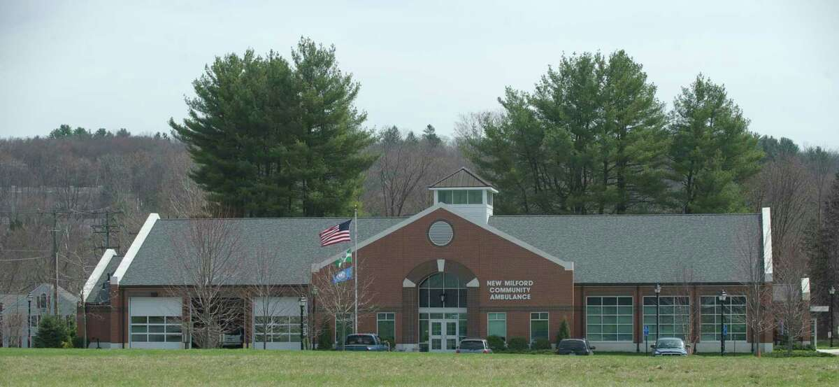The New Milford Community Ambulance on Scovill Road, next to the Century Brass mill, in New Milford.