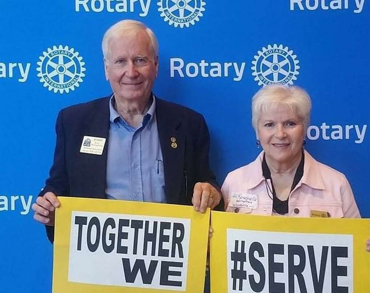 5910 District Governor for 2021-2022 Jerry Springfield visited the Rotary Club of Conroe along with his wife, Rochelle, on Tuesday.