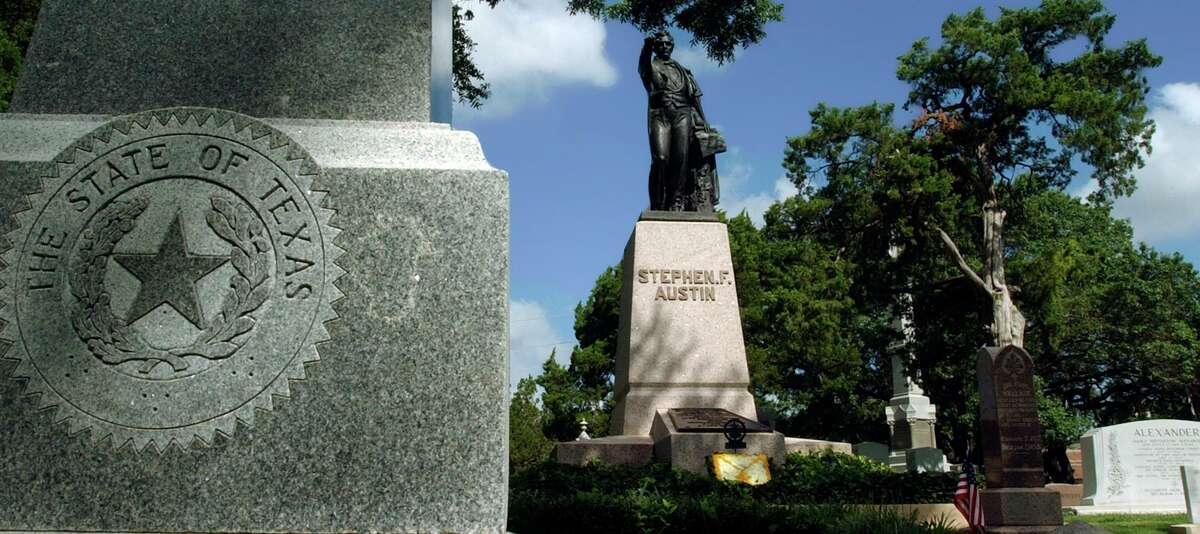 Stephen F. Austin's gravesite is one of the many recognizable names in Texas history that can be found at the Texas State Cemetery, Monday, June 19, 2006, in Austin.