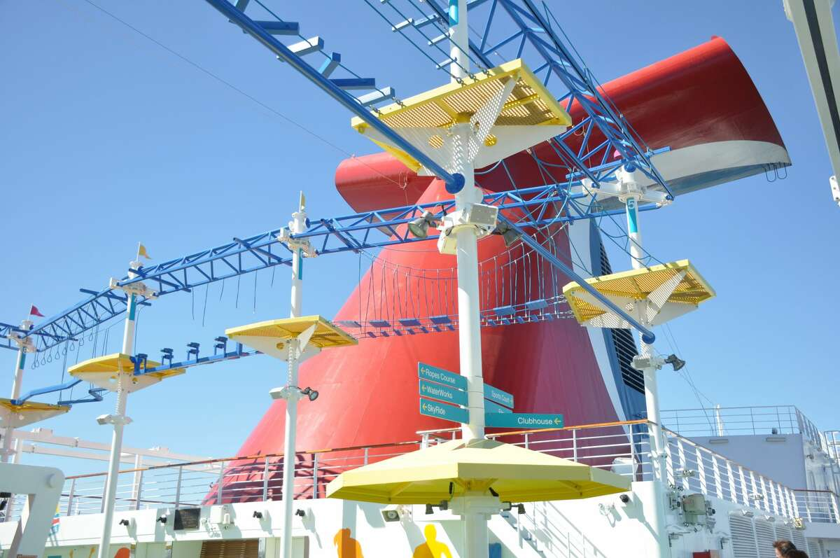 Ropes course and SportsSquare aboard Carnival Panorama