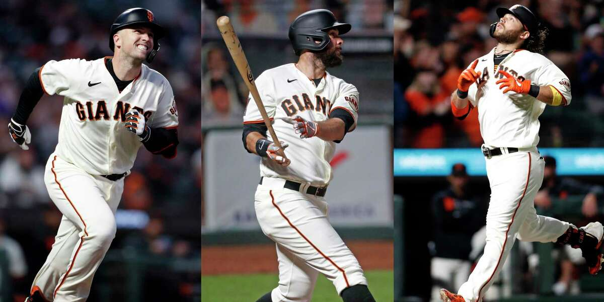 The Giants are led by Buster Beltford, er, Buster Posey, Brandon Belt and Brandon Crawford.