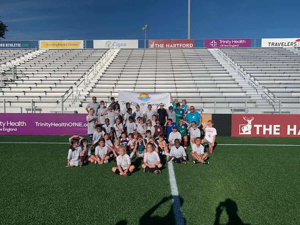 Kids of Summer attended Soccer Night in Hartford Sept. 25. About 50 children came from Litchfield County.