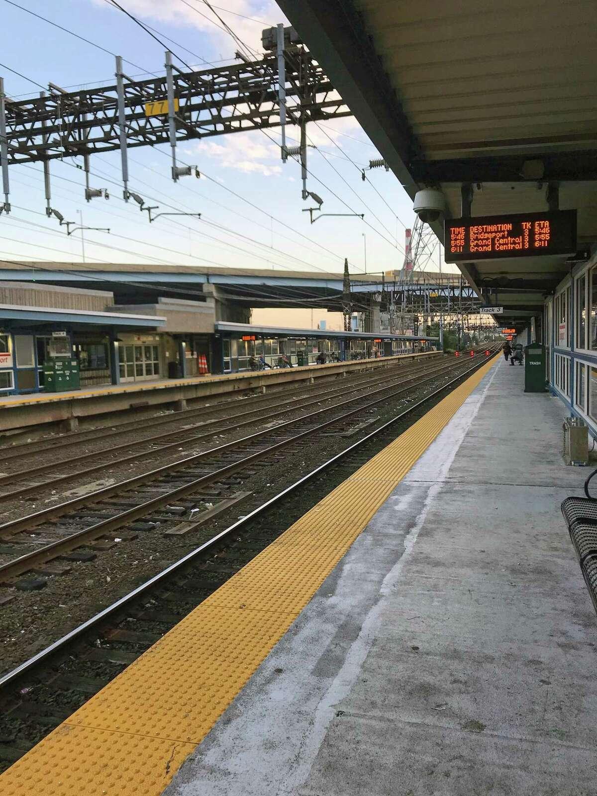 FILE PHOTO -- Bridgeport, Conn., train station.