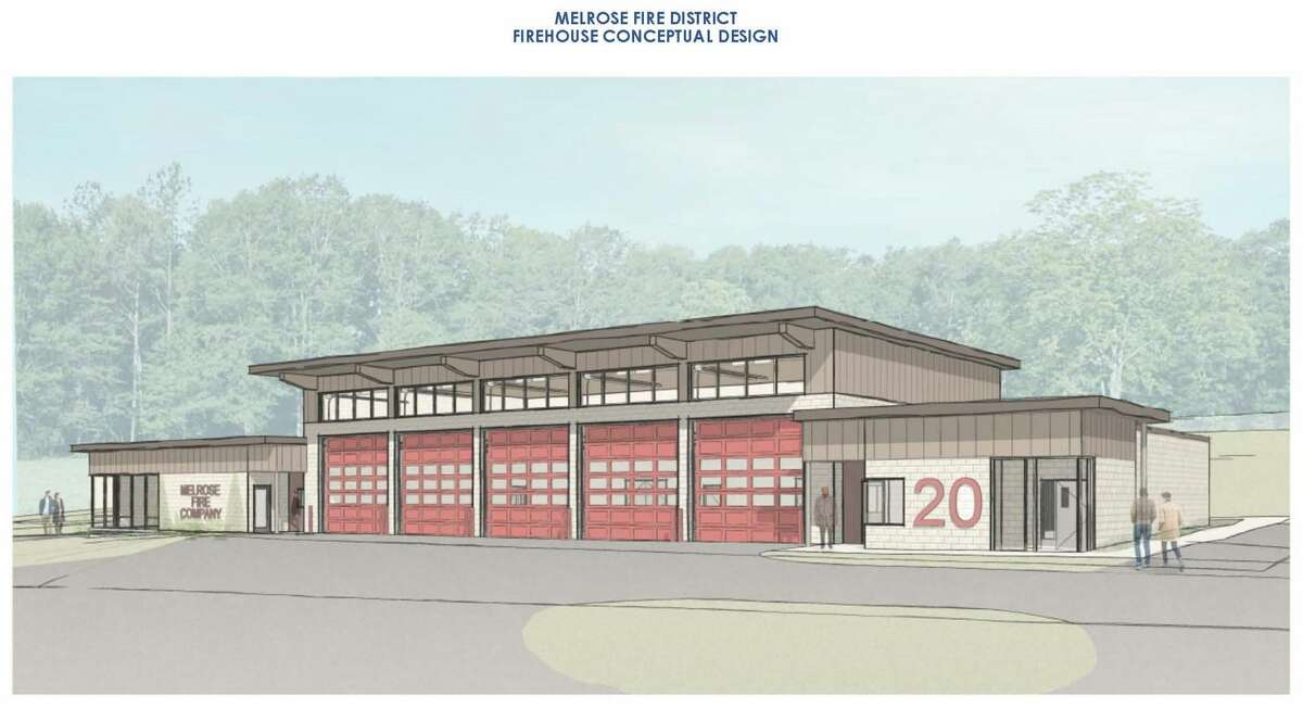 A referendum on building a new Melrose fire station will be held from noon to 9 p.m. Tuesday Oct. 19 at the firehouse. This is the conceptual design.