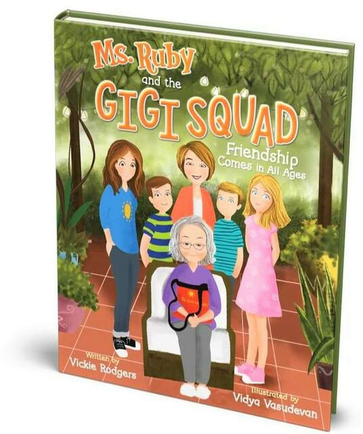 """The cover of """"Ms. Ruby and the Gigi Squad: Friendships Come in All Ages,"""" by illustrator Vidya Vasudevan, reproduced from a photograph by Linda Snyder. The book is available to pre-order now, at www.vickierodgers.com, with delivery by mid-November, in time for Christmas. Sales launch live on Amazon Nov. 8."""
