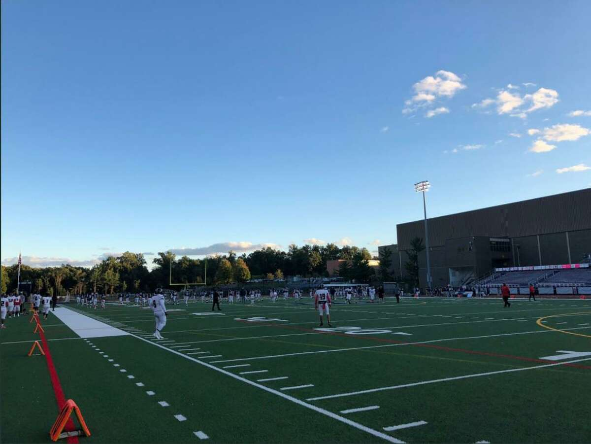 Staples played Wilbur Cross in a Connecticut High School Football Alliance game on Friday, Oct. 1, 2021.