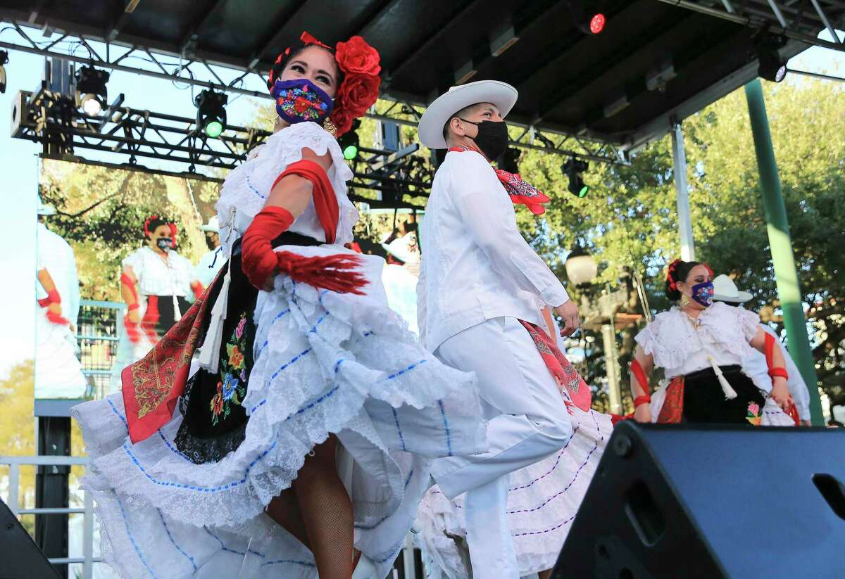 Dancers kick off Hispanic Heritage Month on Wednesday, Sept.15, with dancing and mariachis at Historic Market Square. Month-long events and activities are planned to commemorate the celebration.