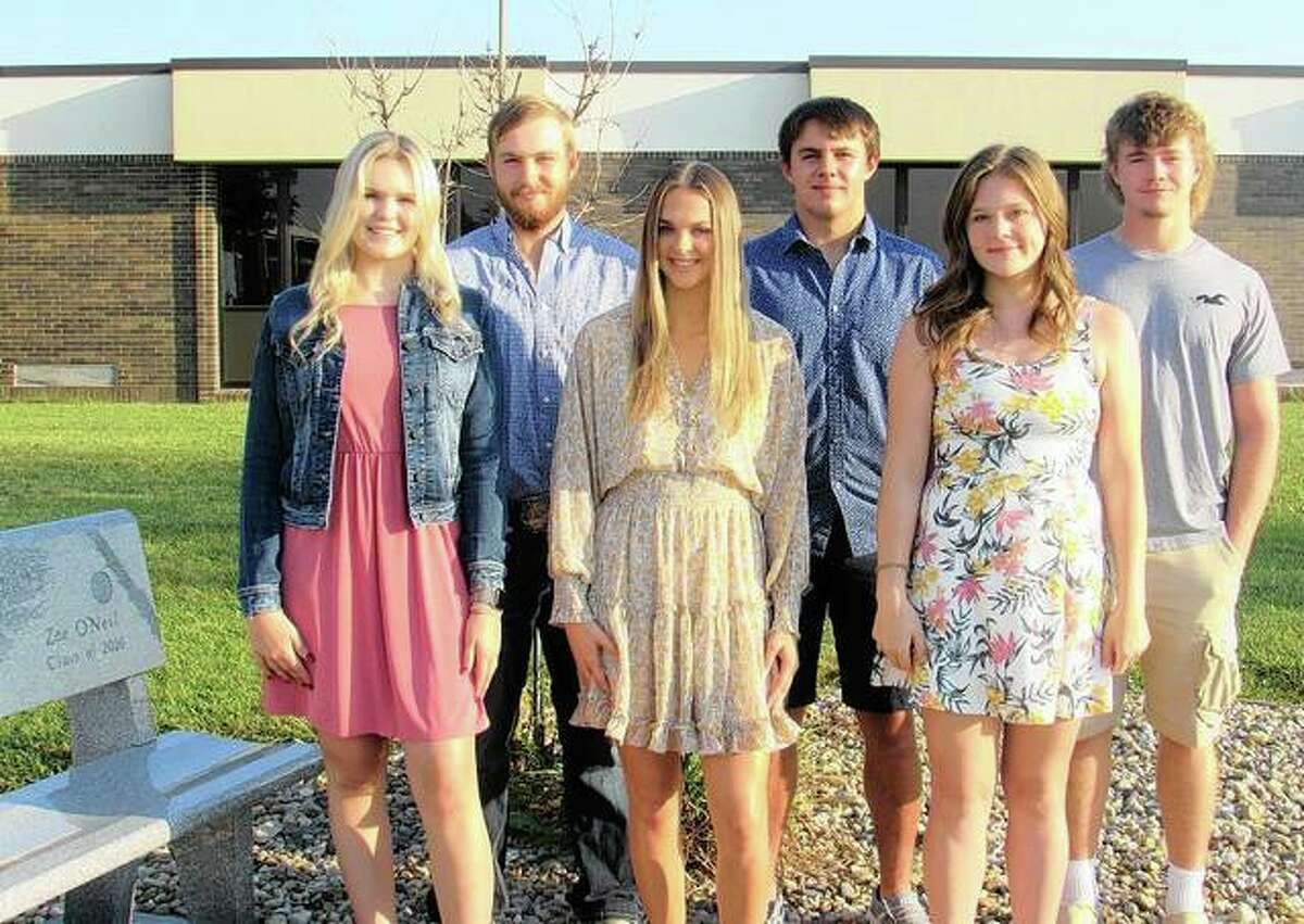 Triopia High School's senior homecoming court includes Kyleigh Sheehan (from left), Lance Bogner, Emma Milby, Caden Moore, Alizza Gaines and Ty Malcomson.