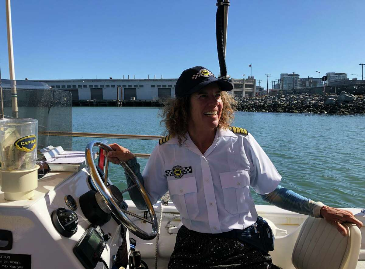 Capt. Roberta Marquis is the newest skipper with San Francisco Water Taxi.