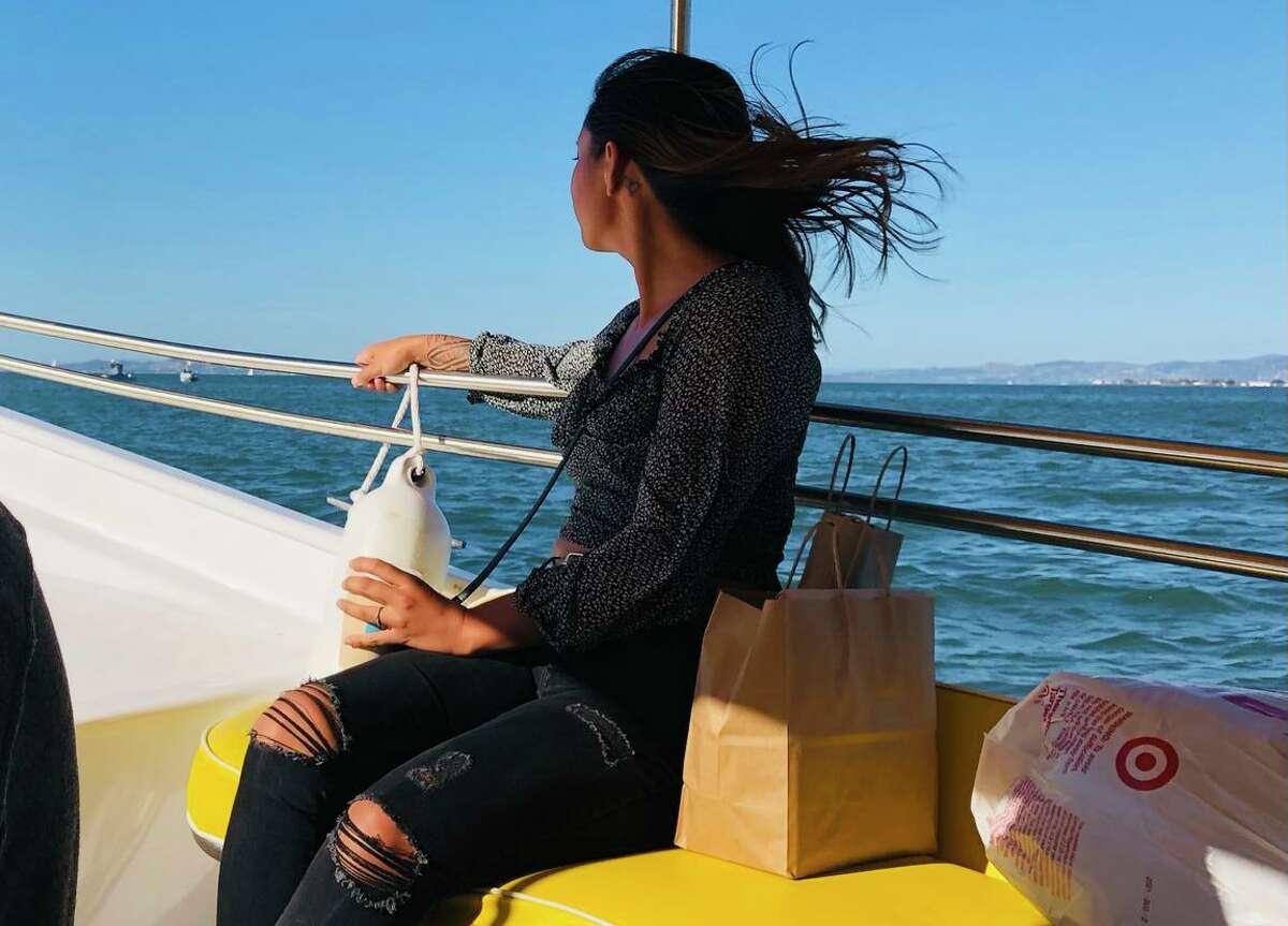 Water taxi passenger Shelly Serrano.