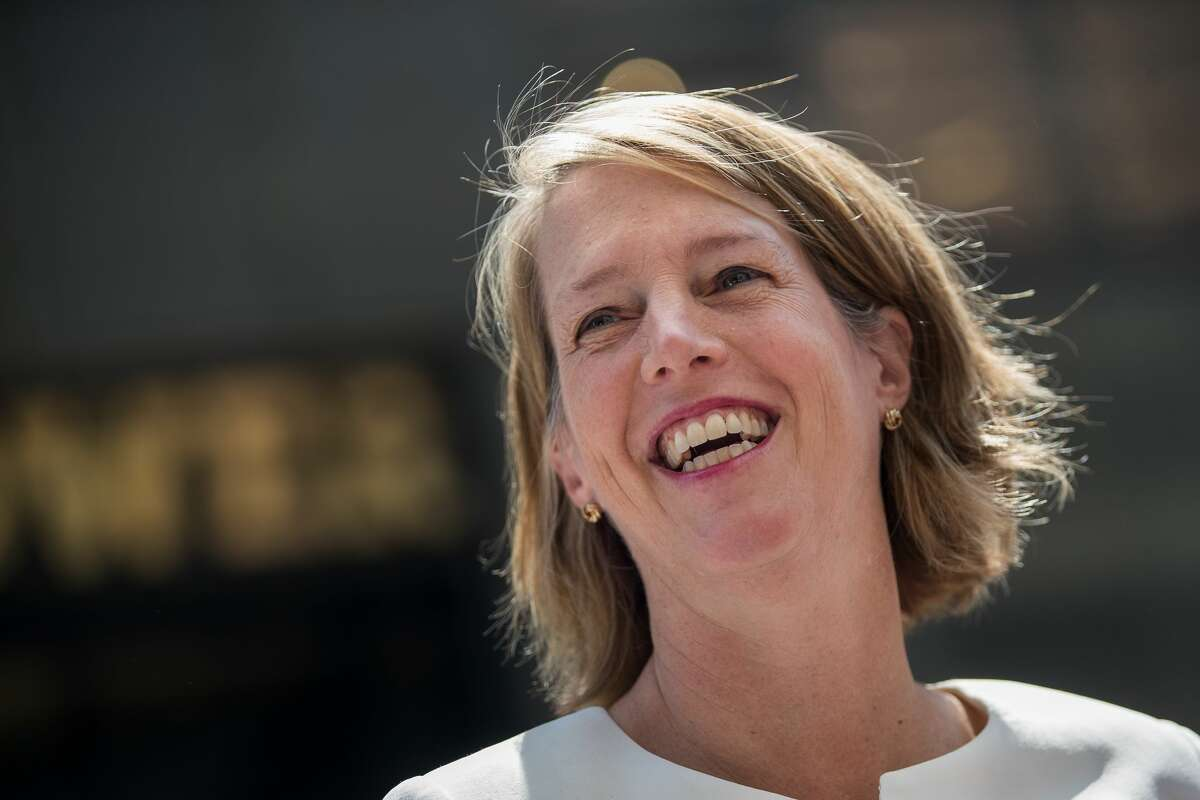 Zephyr Teachout speaks during a press conference outside of Trump Tower in Midtown Manhattan, August 8, 2018 in New York City.