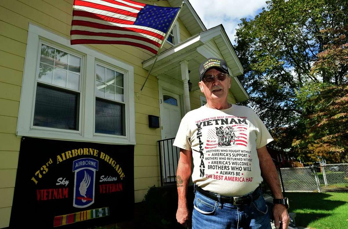 Vietnam veteran Clyde Jones at his home Thursday, September 30, 2021, in Norwalk, Conn.