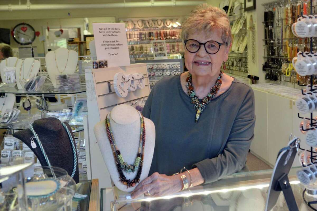 Rena Mulrain, owner of the Bead Hive which is closing Saturday, Oct. 2