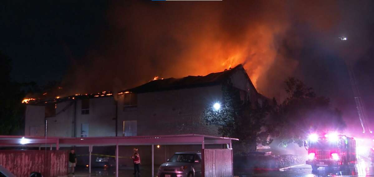 A two-alarm apartment fire destroyed and damaged apartments on Westerland Road.
