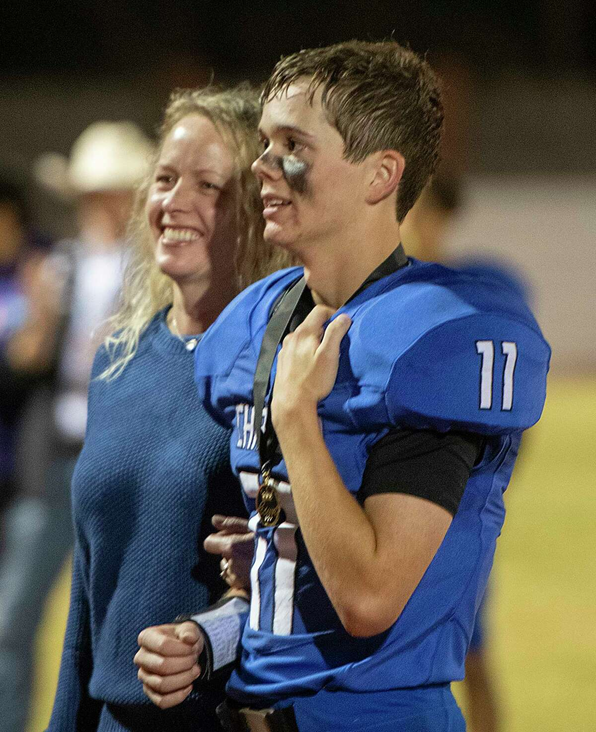 Trinity School homecoming court are announced 10/01/2021 at Coombs Field as the team battles San Jacinto Christian Academy. Tim Fischer/Reporter-Telegram