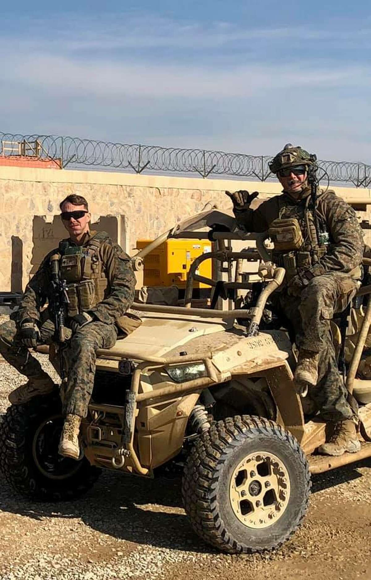 Marine Sgt. Dan Wargo is ready for a mission in the Afghanistan war.