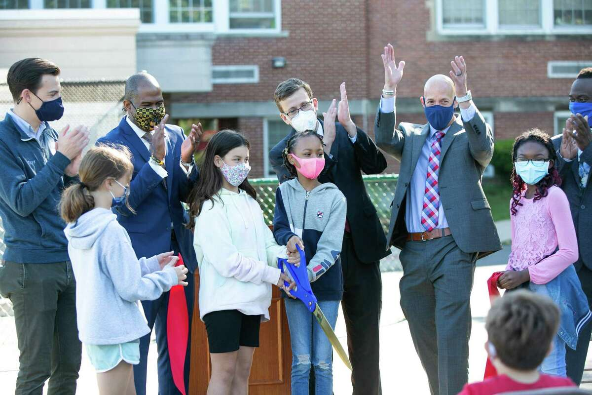 State, city and school officials celebrated the official opening of the first STEM-focused, and first Choice school with a ribbon cutting ceremony Friday. Macdonough Elementary School STEM Academy is located at 66 Spring St.