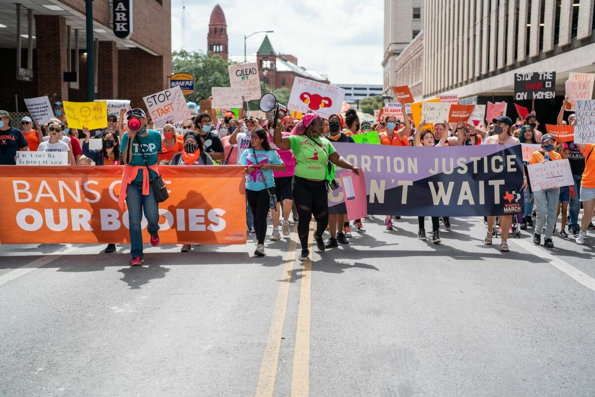 Scenes from Saturday's Bans Off Our Bodies Women's March in downtown San Antonio.