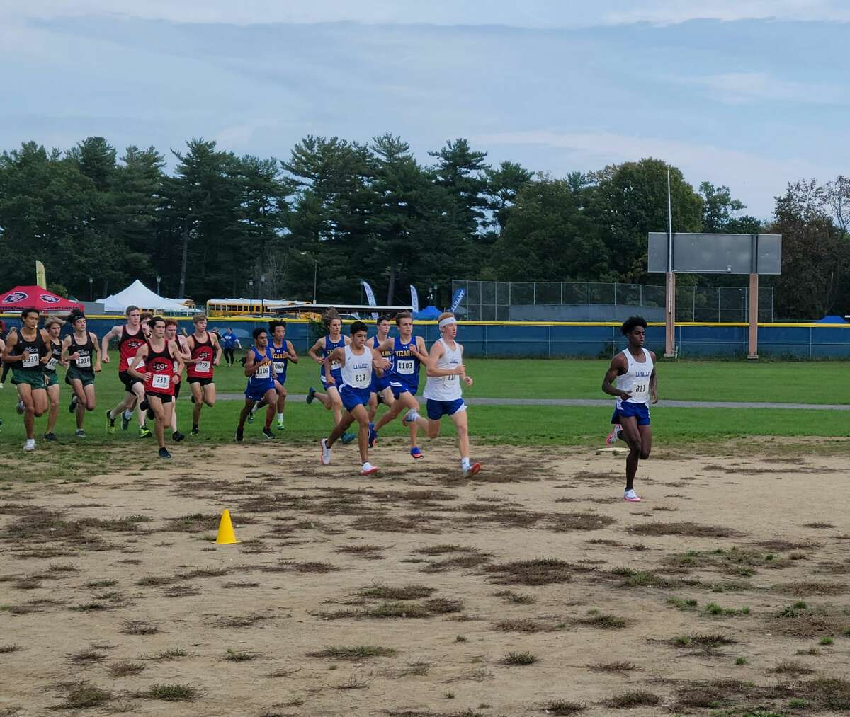 Gitch Hayes of La Salle leads the Division I boys' field early in the race Saturday at the Grout Invitational.