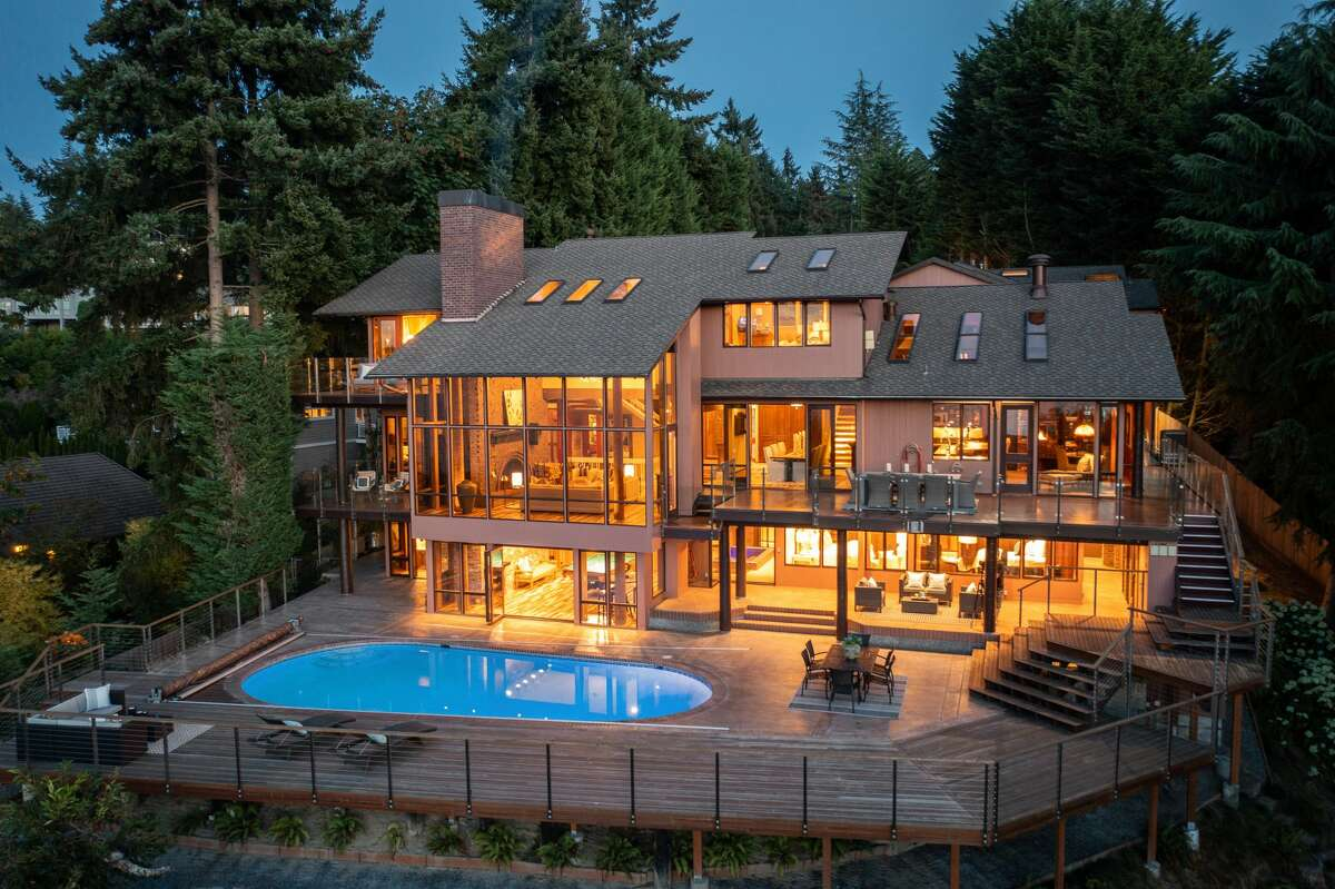 The house is a multilevel 8,680-square-foot masterpiece.