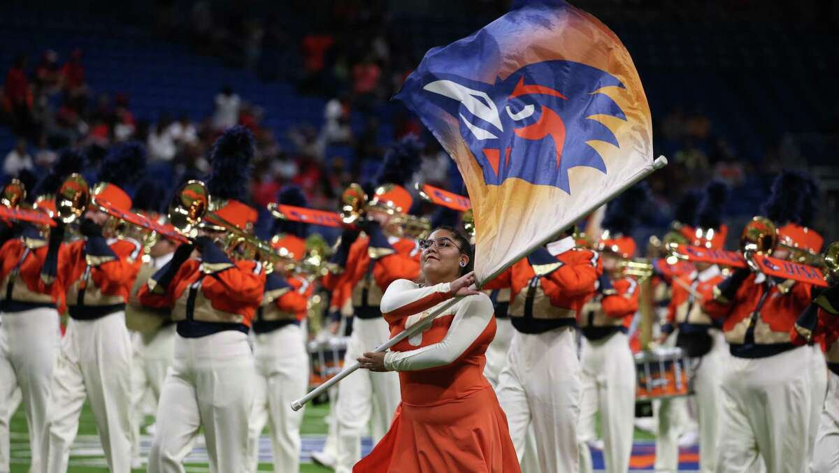 UTSA band entertains the crowd before the start of their game against UNLV on Saturday, Oct. 2, 2021.