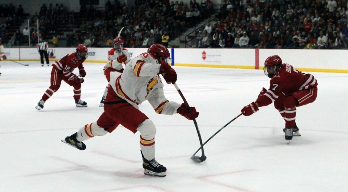 The Ferris State University hockey team was defeated 7-4 by Miami University in its first game of the season Saturday night.