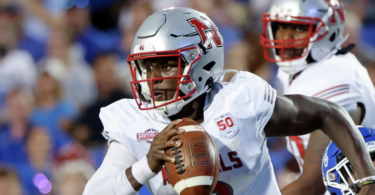 Lindsey Scott Jr. #0 of the Nicholls Colonels scrambles against the Memphis Tigers on September 4, 2021 at Liberty Bowl Memorial Stadium in Memphis, Tennessee. The Memphis Tigers defeated the Nicholls Colonels 42-17. (Photo by Joe Murphy/Getty Images)
